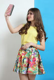 Girl in spring clothes Royalty Free Stock Photos