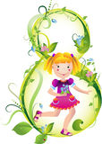 The girl with spring colours for mum Royalty Free Stock Images