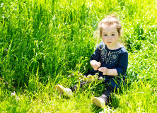 Girl in spring day Royalty Free Stock Photo