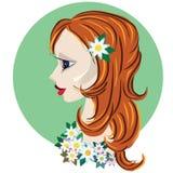Girl spring. Digital art. Vector illustration.girl spring Stock Photos