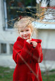 Girl in spring garden Stock Photography
