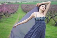 Girl in spring garden Royalty Free Stock Photography