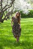 Girl in the spring garden Royalty Free Stock Photos