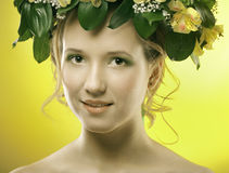 Girl spring Stock Images