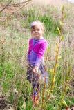 Girl in spring Stock Photo