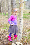 Girl in spring Stock Images