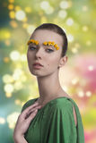 Girl with spring make-up Royalty Free Stock Photography