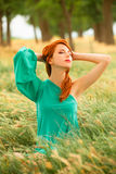 Girl at spring outdoor Royalty Free Stock Image