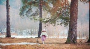 Girl in spring park Stock Image