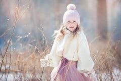 Girl in spring park Stock Photo