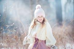 Girl in spring park Royalty Free Stock Image