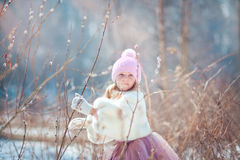 Girl in spring park Royalty Free Stock Images