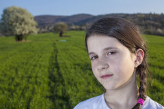 Girl in the spring Stock Photography