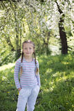 Girl by springtime Royalty Free Stock Image