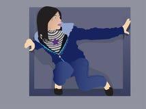 Girl in square Stock Photo