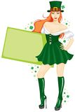 The girl in the St. Patricks Day Stock Photos