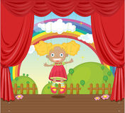 Girl on stage Stock Photography