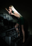 Girl on the staircase Royalty Free Stock Photography