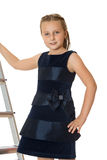 Girl at the stairs Royalty Free Stock Photography