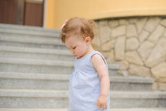 Girl on Stairs Royalty Free Stock Photo