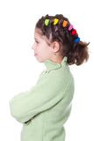 Girl standing with arms folded Royalty Free Stock Image