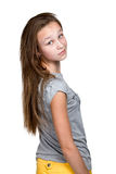 Girl standing backwards and turned Royalty Free Stock Image