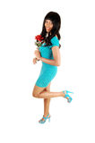 Girl standing in dress. Royalty Free Stock Photography