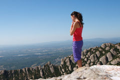 Girl standing at the edge Stock Image