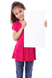 Girl standing with empty paper Royalty Free Stock Photography