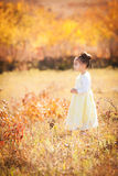 Girl standing in field Royalty Free Stock Photo