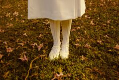 Girl Standing on Lawn Royalty Free Stock Images