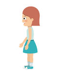 Girl standing looking aside  icon design. Vector illustration  graphic Royalty Free Stock Images