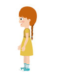 Girl standing looking aside  icon design. Vector illustration  graphic Royalty Free Stock Photos