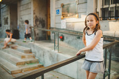 Girl standing outside Royalty Free Stock Images