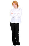 Girl standing on a white background Royalty Free Stock Photo