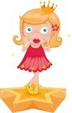 Girl on star Royalty Free Stock Photos