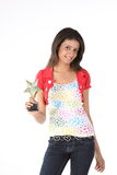 Girl with star trophy Stock Image