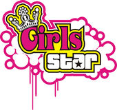 Girl star Vector Royalty Free Stock Photography