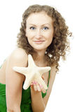 Girl with starfish Royalty Free Stock Photo