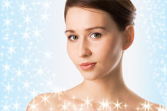 Girl with stars Stock Photography