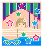 Girl with stars Royalty Free Stock Photos