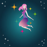 Girl with stars Stock Image