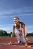 Girl start run Royalty Free Stock Images