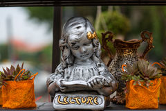 Girl statue Royalty Free Stock Photos