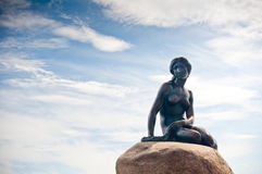 Girl statue sitting Stock Image