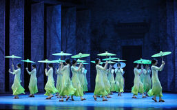 The girl stepped clogs-The second act of dance drama-Shawan events of the past. Guangdong Shawan Town is the hometown of ballet music, the past focuses on the Royalty Free Stock Images