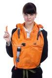Girl in stewardess uniform Royalty Free Stock Photography