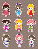 Girl stickers Royalty Free Stock Photo