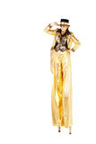 Girl on stilts Stock Image