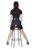 Girl on stool Royalty Free Stock Photos